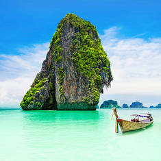 Railay beach i Krabi