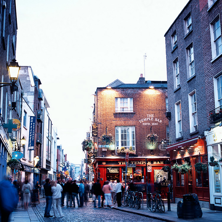 The Temple Bar i Dublin