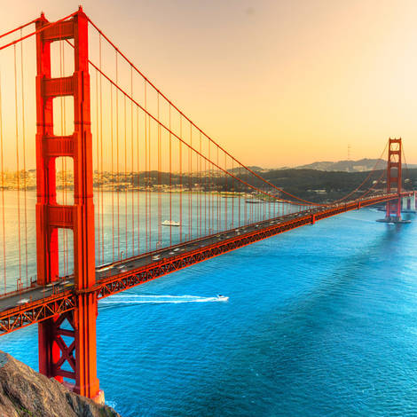 Golden Gate-bron i San Francisco, Kalifornien, USA